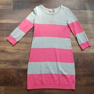 Gap Pink and Grey Striped Sweater Dress